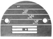 Stichplatte B1109-552-000 Juki DDL-555-4, -5, u.a.